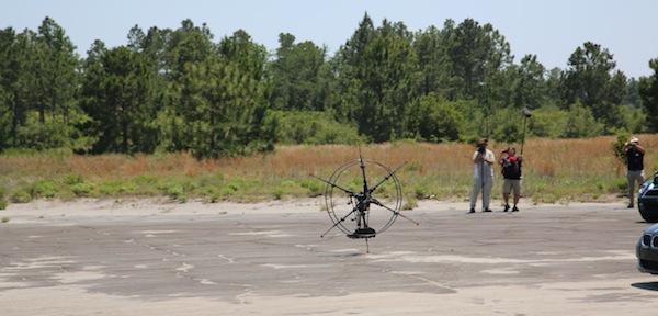 The HexRunner running robot on its record-setting speed run.