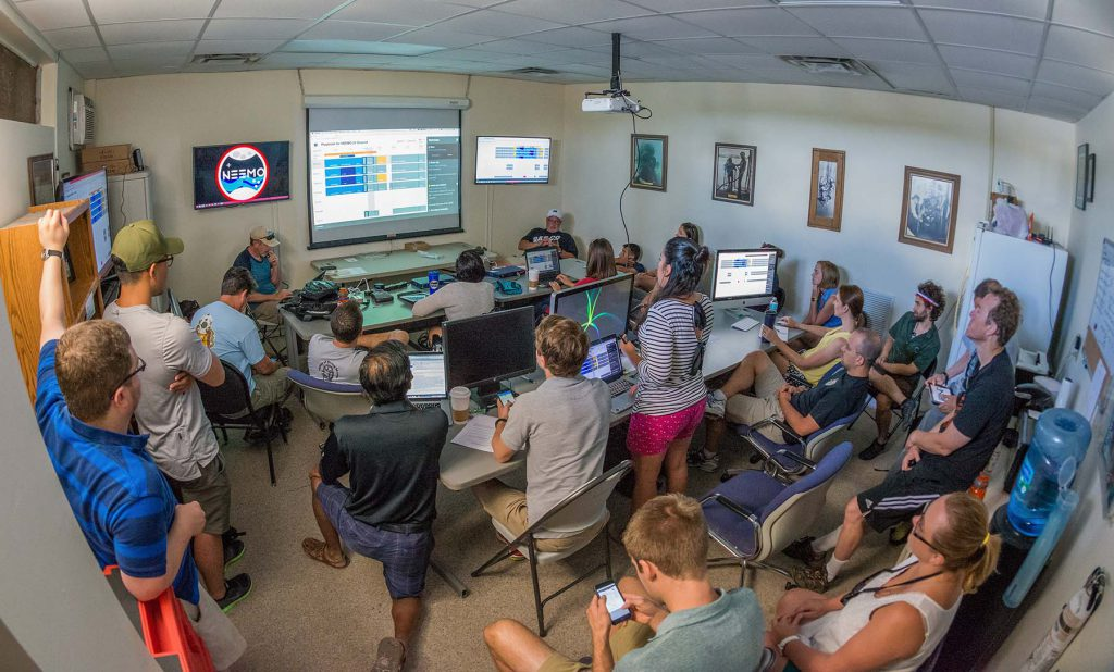 Playbook review meeting in NEEMO Mission Control