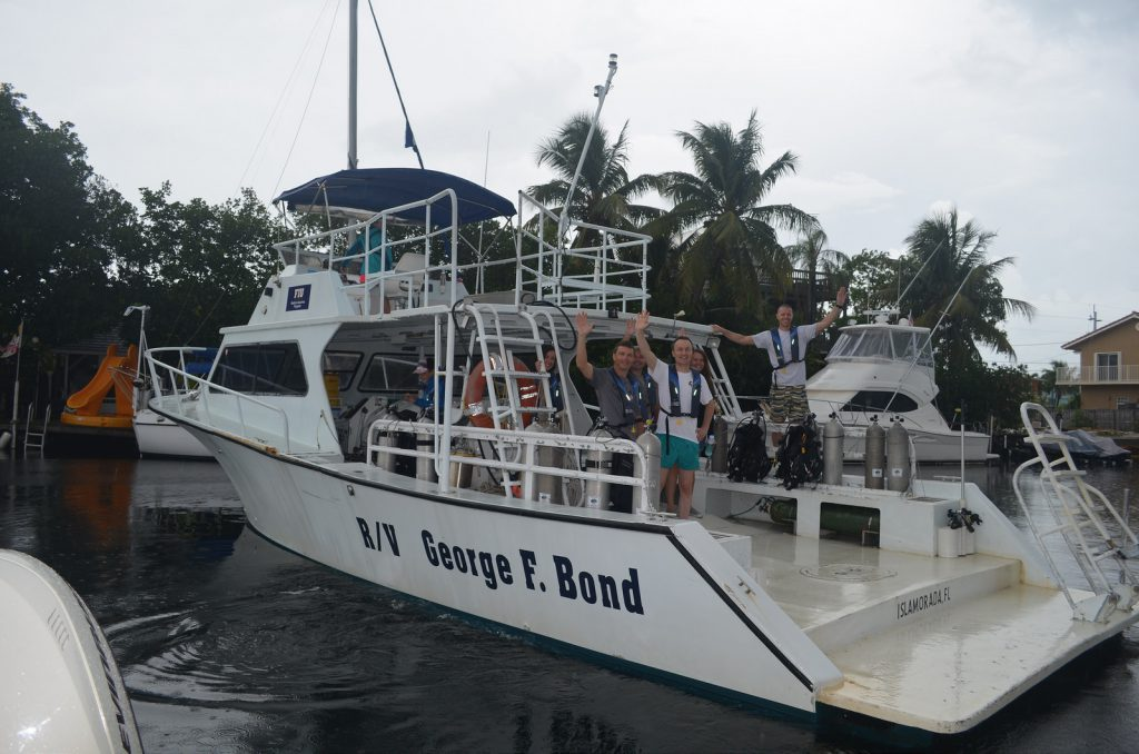 One of the ARB dive boats, aptly named after the father of saturation diving, George Bond