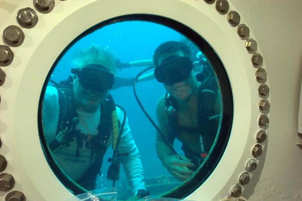 NEEMO Founder and Program Manager Bill Todd and Chief of the Astronaut Office Chris Cassidy visit Aquarius