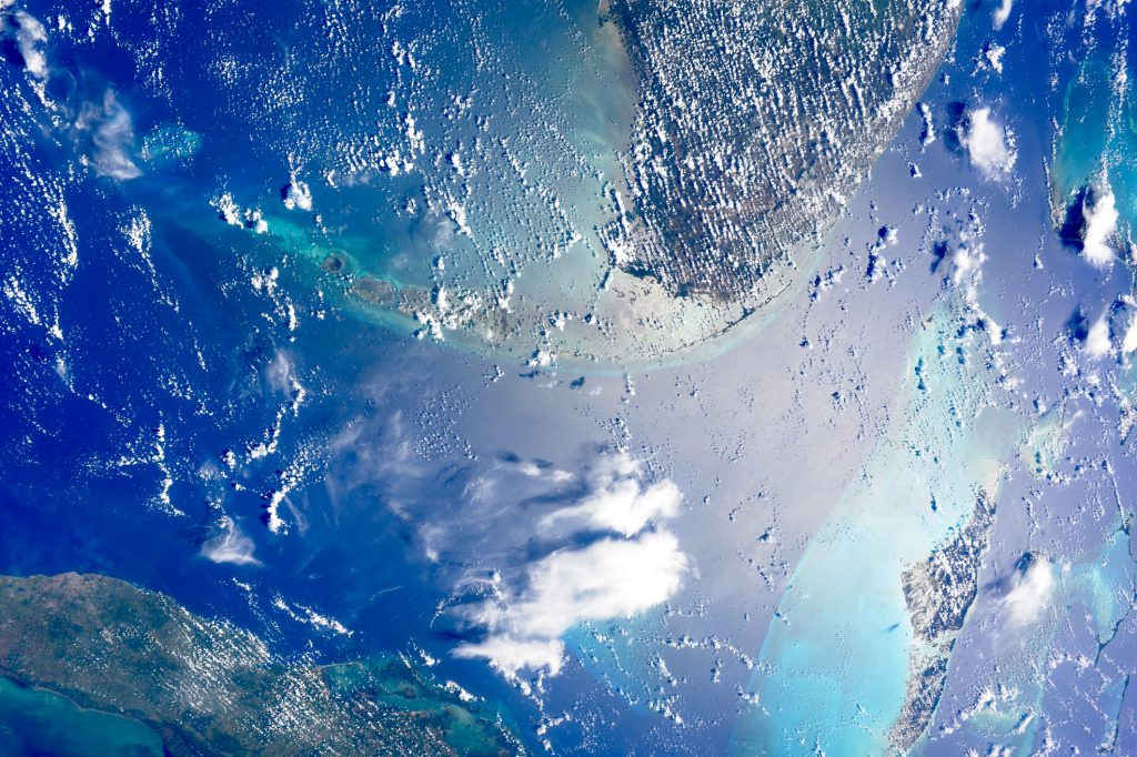 Astronaut Takuya Onishi sent the NEEMO 21 team this spectacular ISS view of the Florida Keys