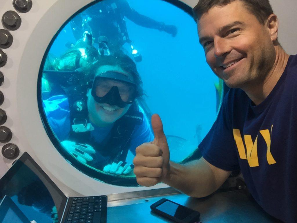 With Reid at habitat